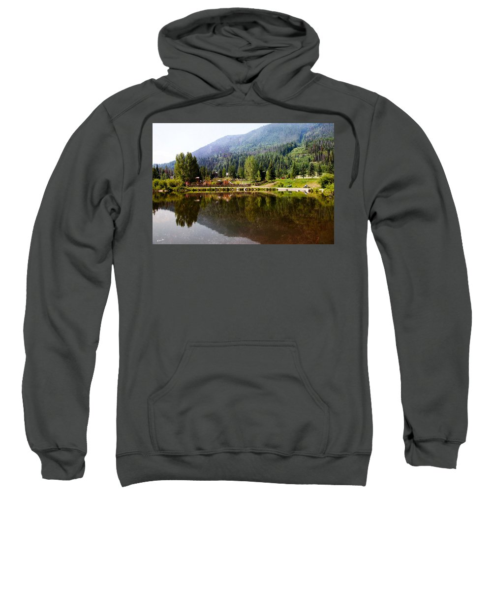 Vail Sweatshirt featuring the photograph Vail Reflections by Madeline Ellis