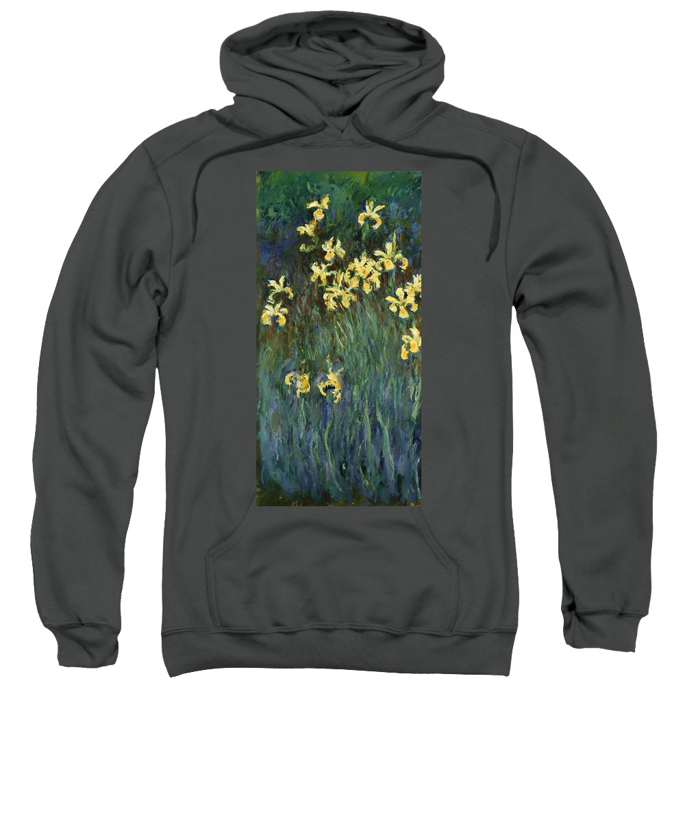 Painting Sweatshirt featuring the painting Yellow Irises by Mountain Dreams