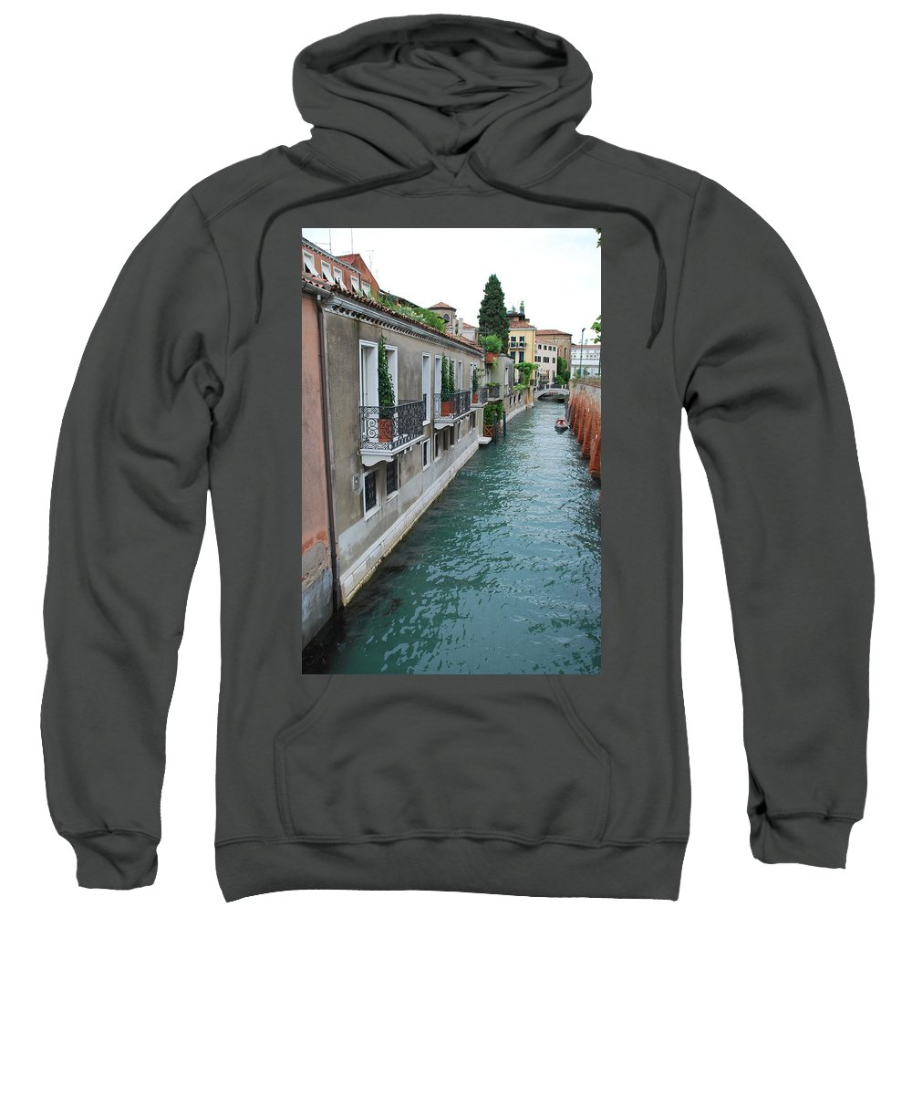 Venice Sweatshirt featuring the photograph Venice Canal by Richard Booth