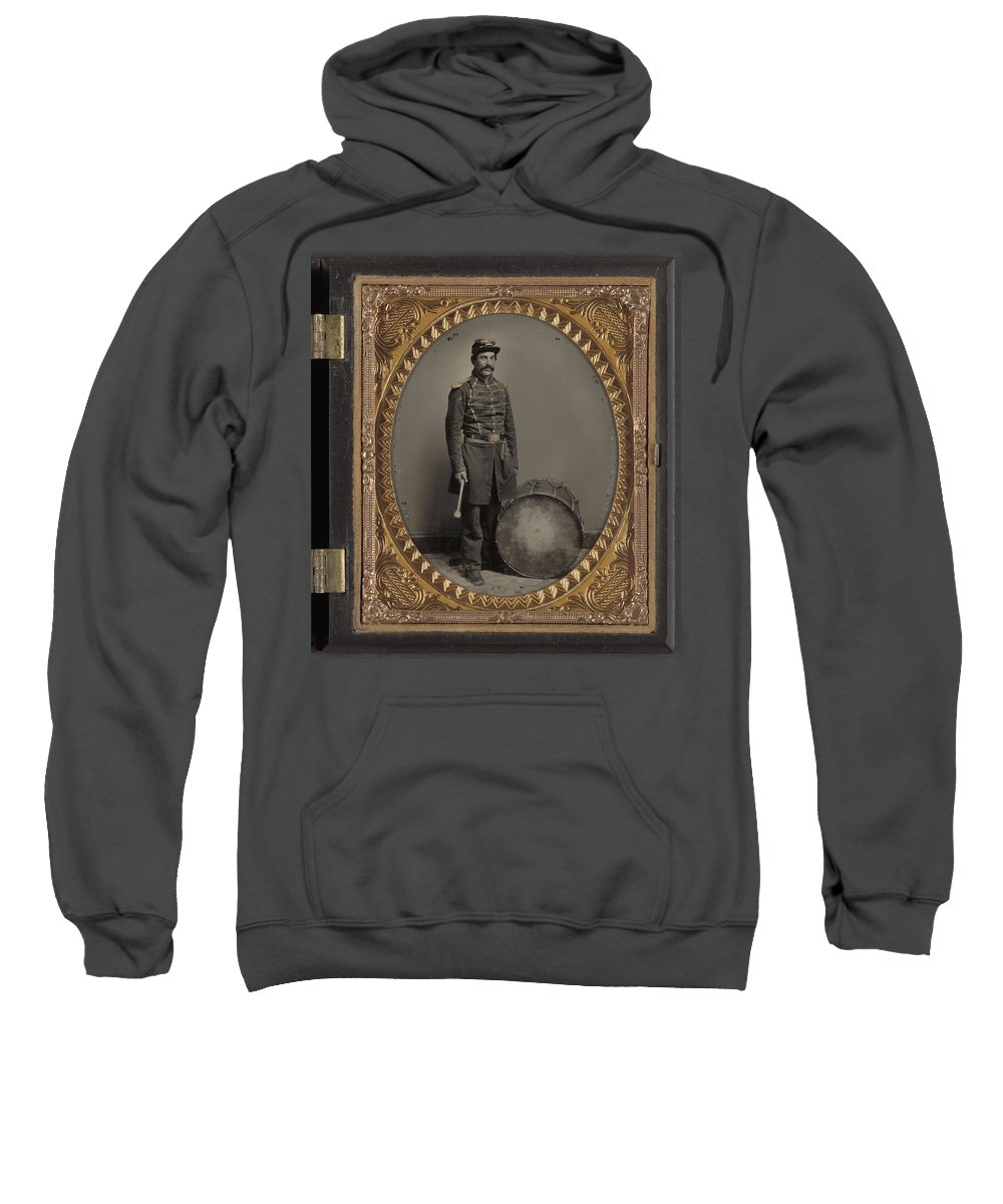 1863 Sweatshirt featuring the painting Civil War Soldier, C1863 by Granger