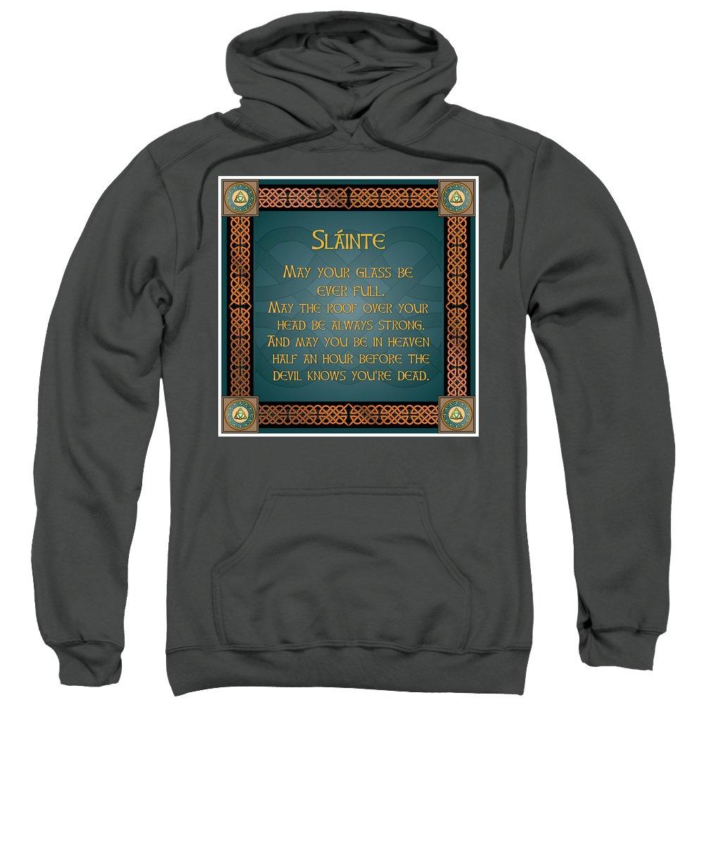Old Sweatshirt featuring the digital art An Irish Toast by Ireland Calling