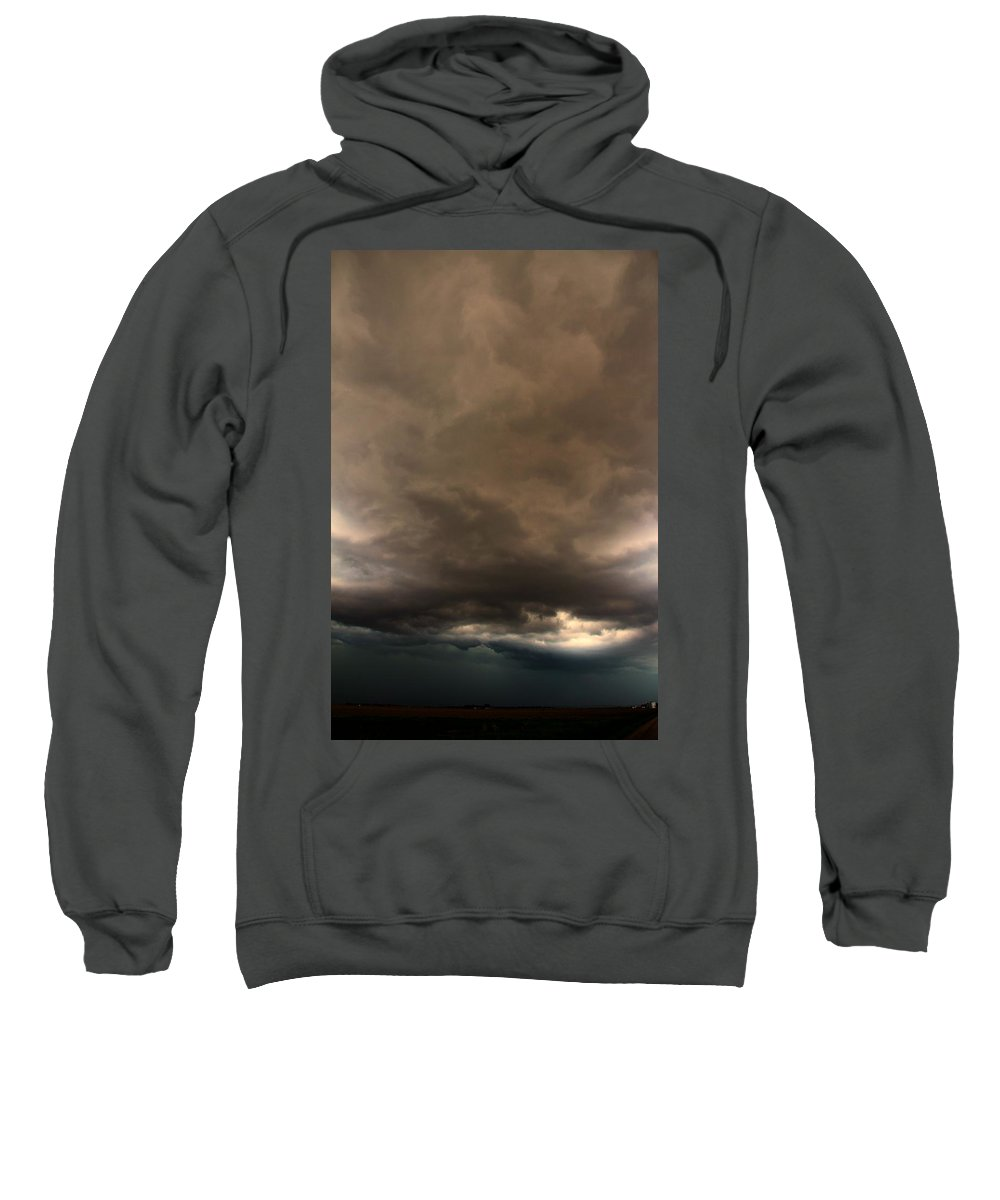 Stormscape Sweatshirt featuring the photograph 052913 - Severe Storms Over South Central Nebraska by NebraskaSC