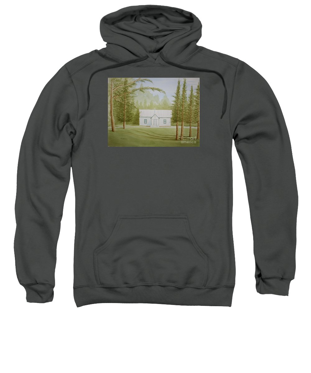 Trees Sweatshirt featuring the painting A North Carolina Church by Stacy C Bottoms
