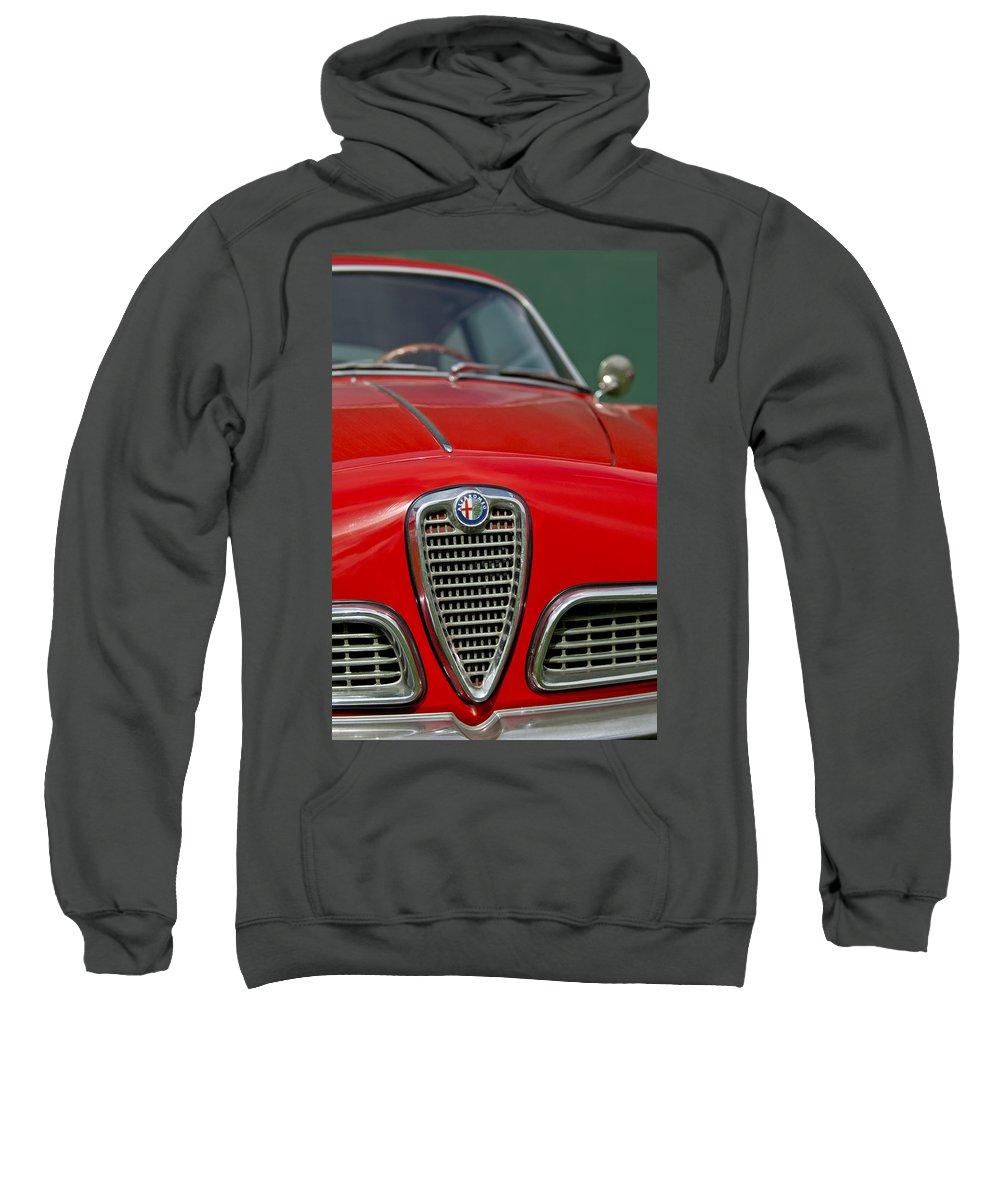 Alfa Romeo Sweatshirt featuring the photograph Alfa Romeo Grille Emblem by Jill Reger