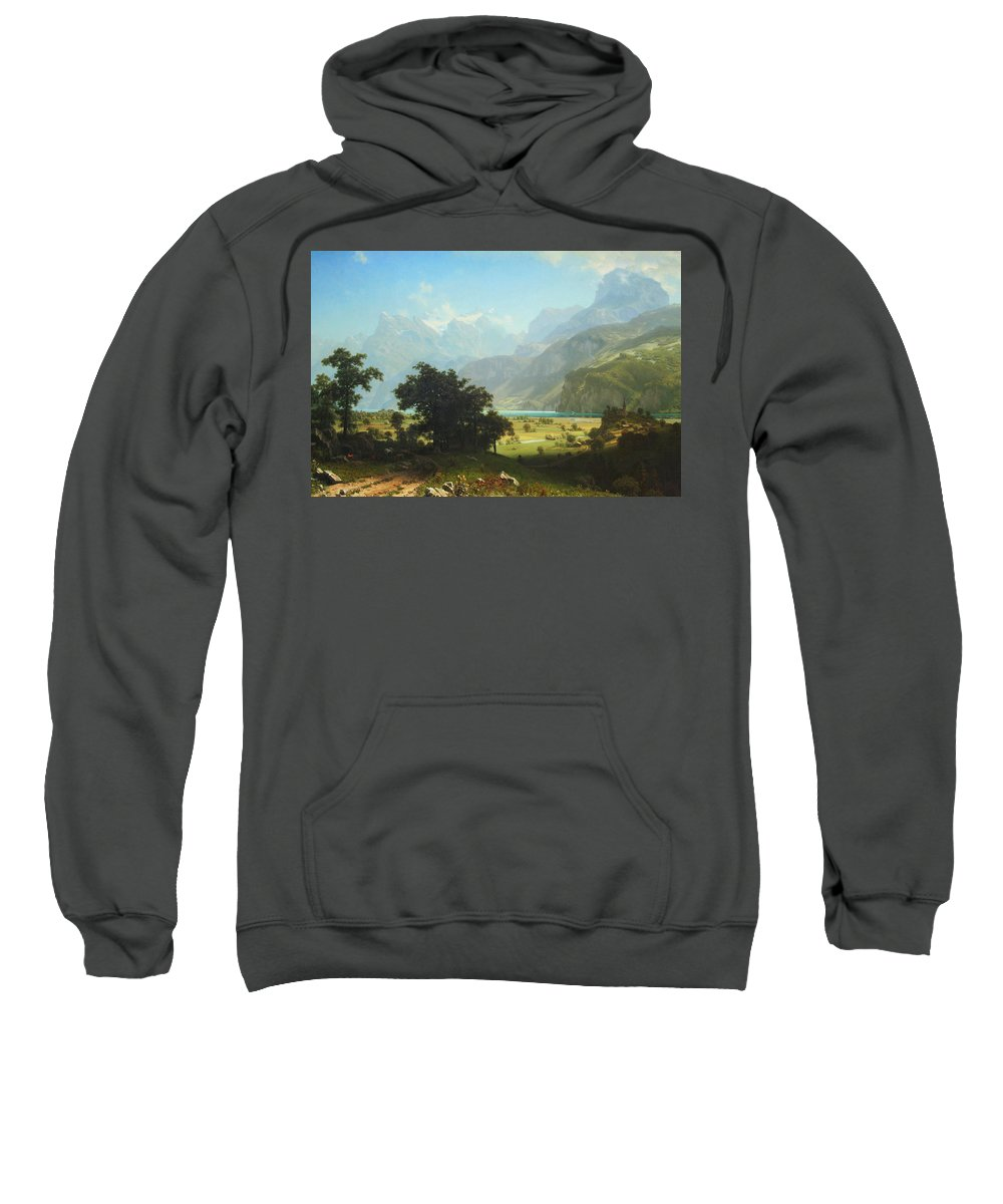 Lake Lucerne Sweatshirt featuring the photograph Bierstadt's Lake Lucerne by Cora Wandel