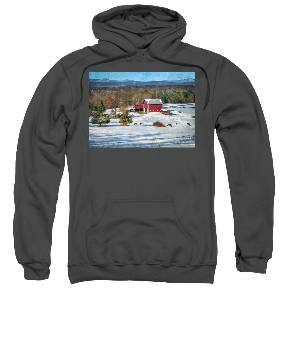 Barns Sweatshirt featuring the photograph Down In The Valley by Claudia Kuhn