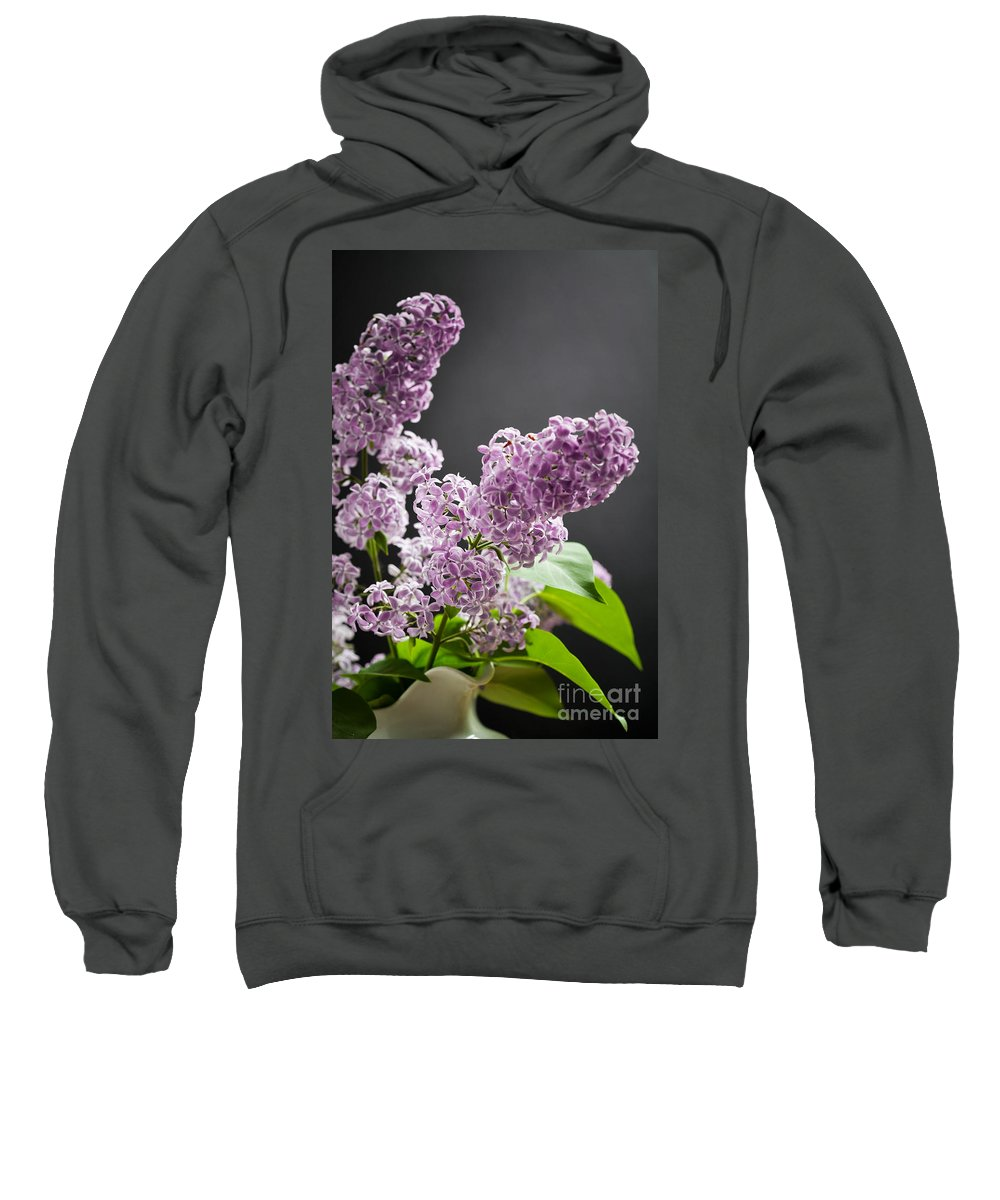 Floral Sweatshirt featuring the photograph Lilac by Kati Finell