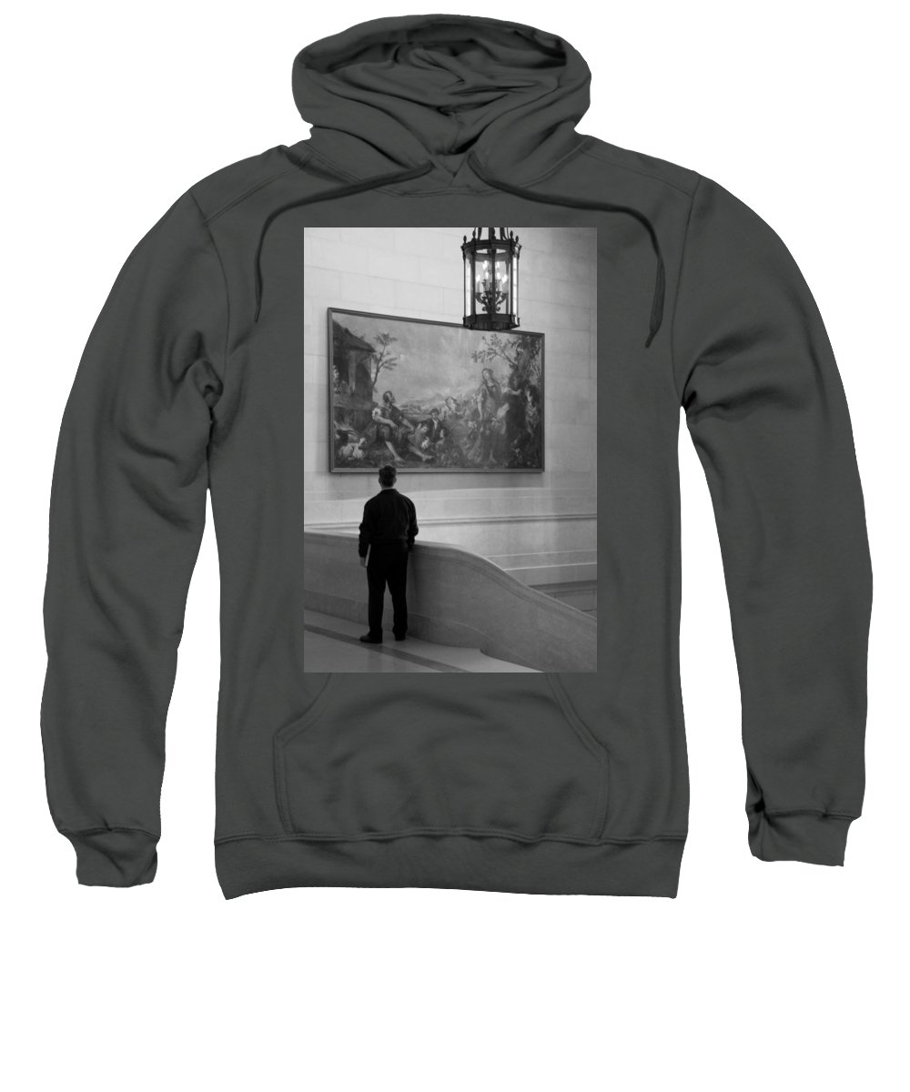 Painting Sweatshirt featuring the photograph Looking At A Painting by Cora Wandel