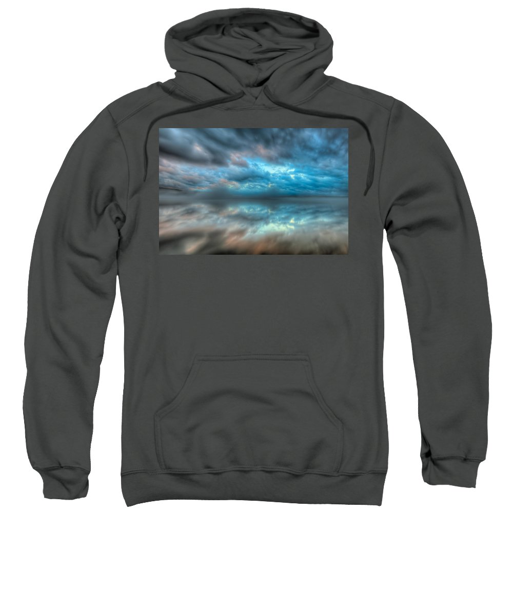 New England Sweatshirt featuring the photograph Melvin Bay Fog by Brenda Jacobs
