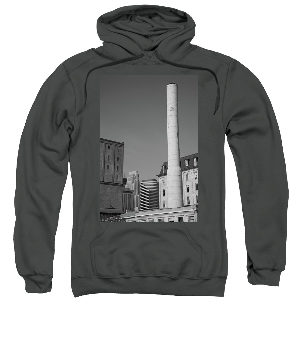 America Sweatshirt featuring the photograph Minneapolis Smokestack by Frank Romeo