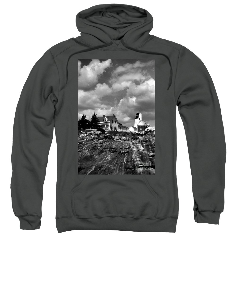 Lighthouses Sweatshirt featuring the photograph Pemaquid Point Lighthouse by Skip Willits