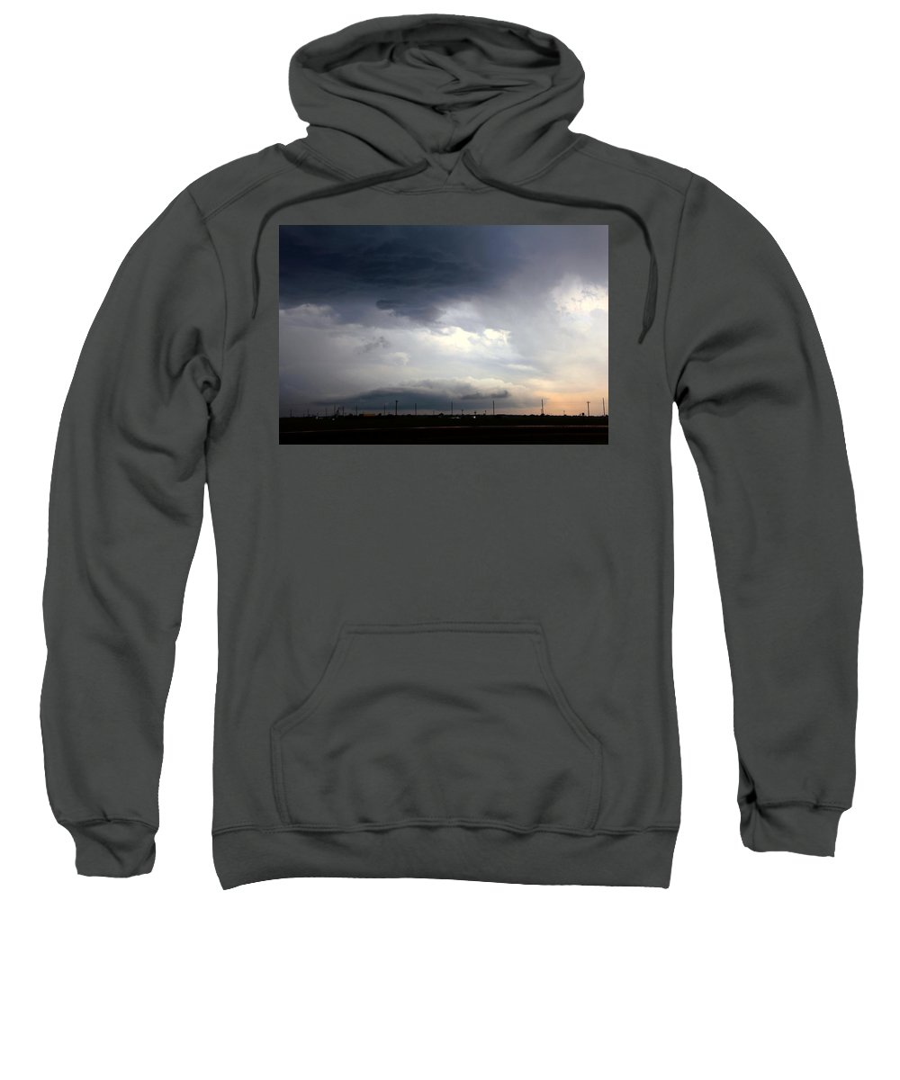 Stormscape Sweatshirt featuring the photograph Severe Storm Cells Developing Over South Central Nebraska by NebraskaSC