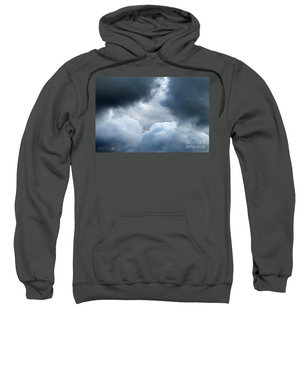 Storm Clouds Sweatshirt featuring the photograph Storm Clouds by J McCombie