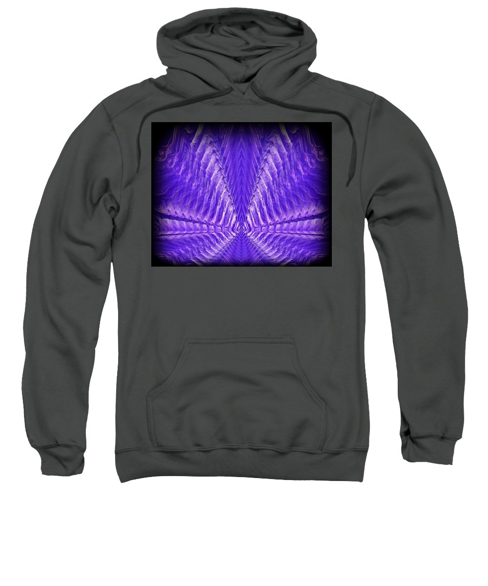 Original Sweatshirt featuring the painting Abstract 104 by J D Owen