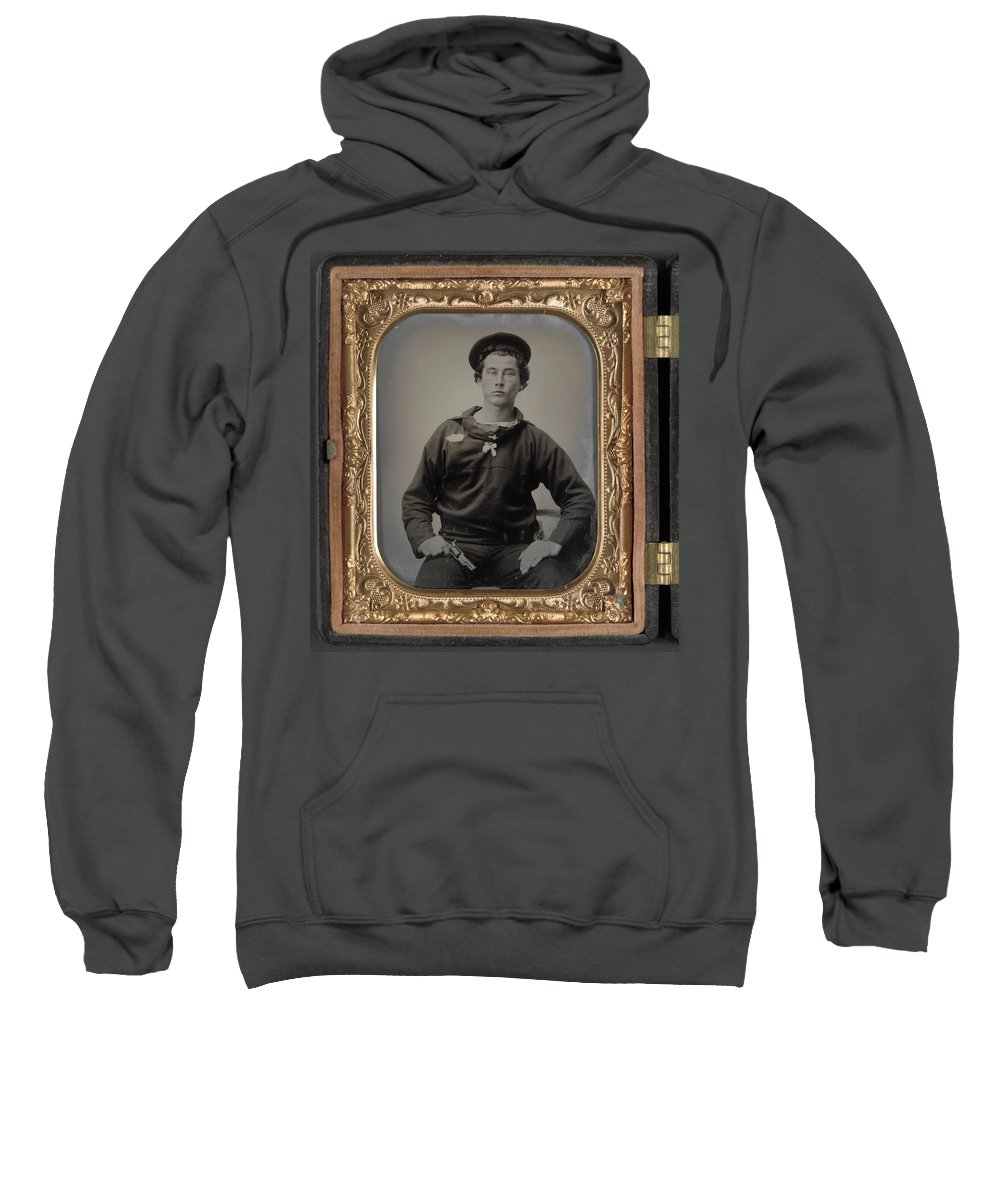 1863 Sweatshirt featuring the painting Civil War Sailor, C1863 by Granger