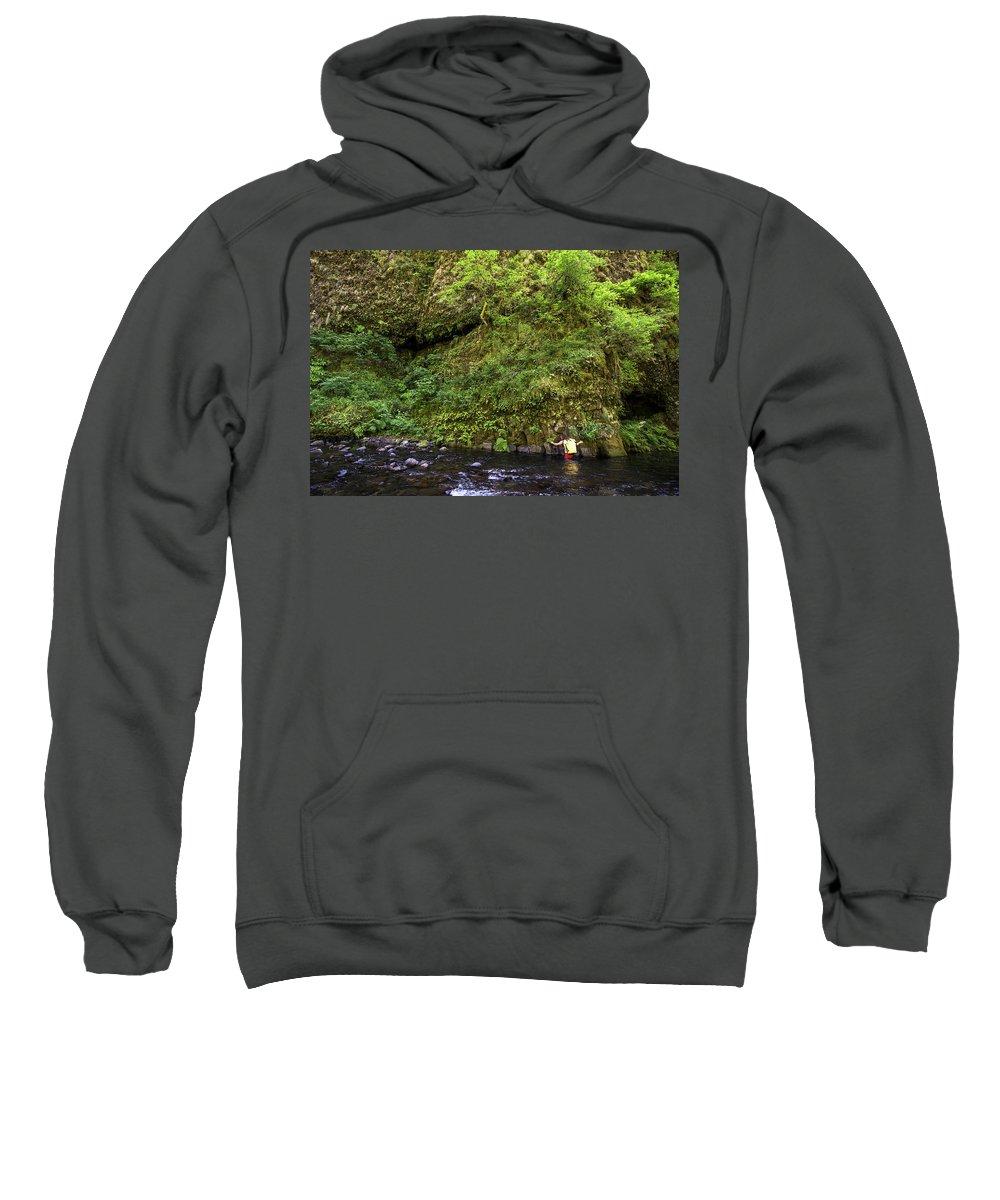 Non-urban Scene Sweatshirt featuring the photograph Columbia River Gorge, Oregon, Usa by David Hanson