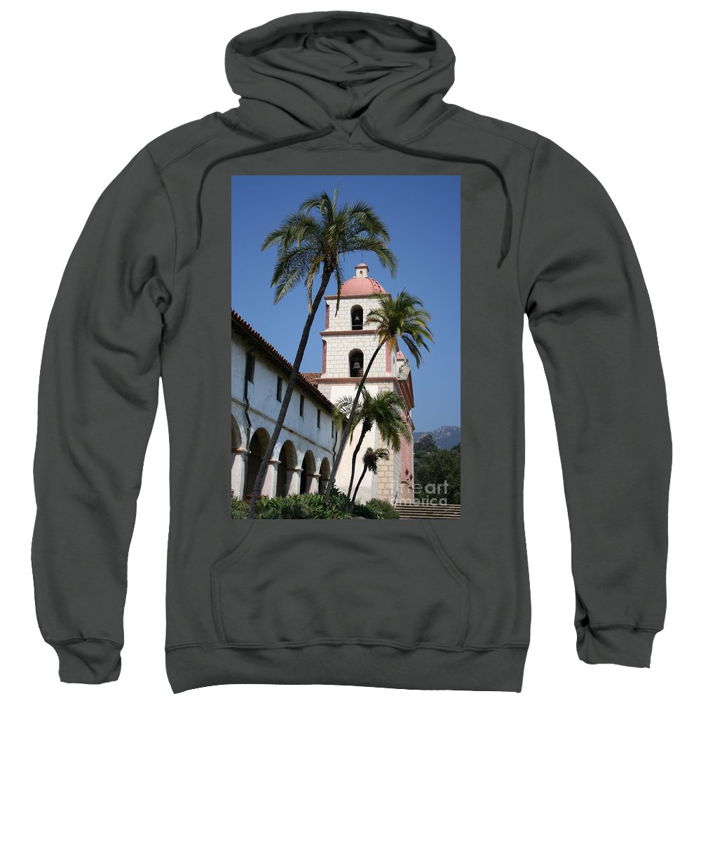 Mission Sweatshirt featuring the photograph Old Mission Santa Barbara by Christiane Schulze Art And Photography