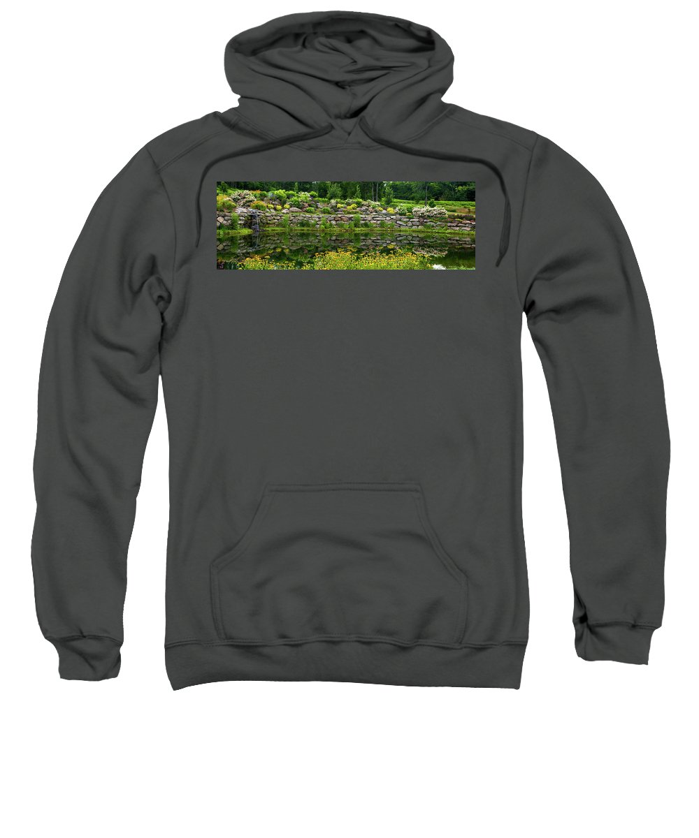 Photography Sweatshirt featuring the photograph Rocks And Plants In Rock Garden by Panoramic Images