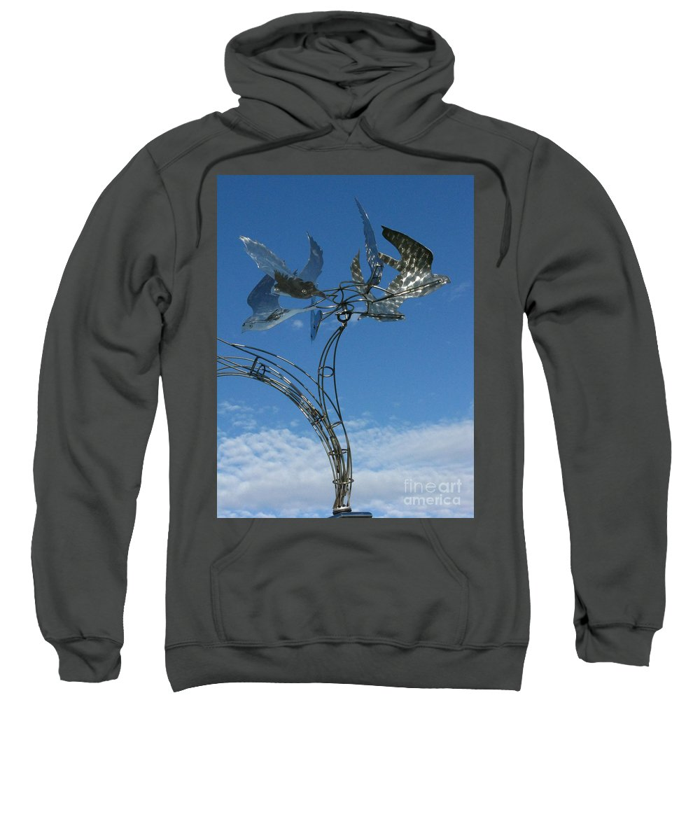 Whirlybird Sweatshirt featuring the photograph Whirlybird by Peter Piatt