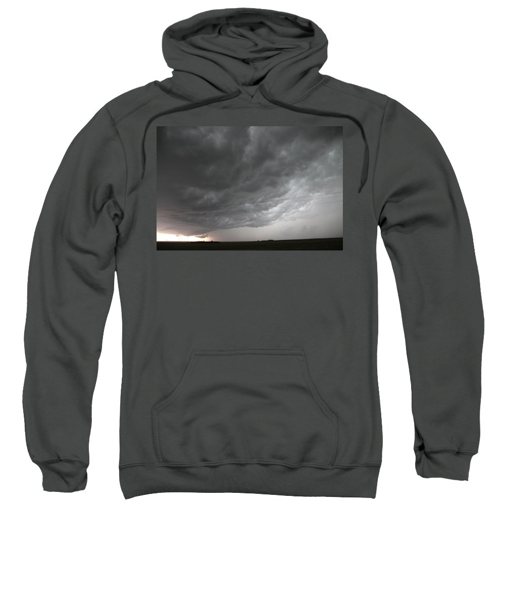 Stormscape Sweatshirt featuring the photograph Nebraska Panhandle Supercells by NebraskaSC