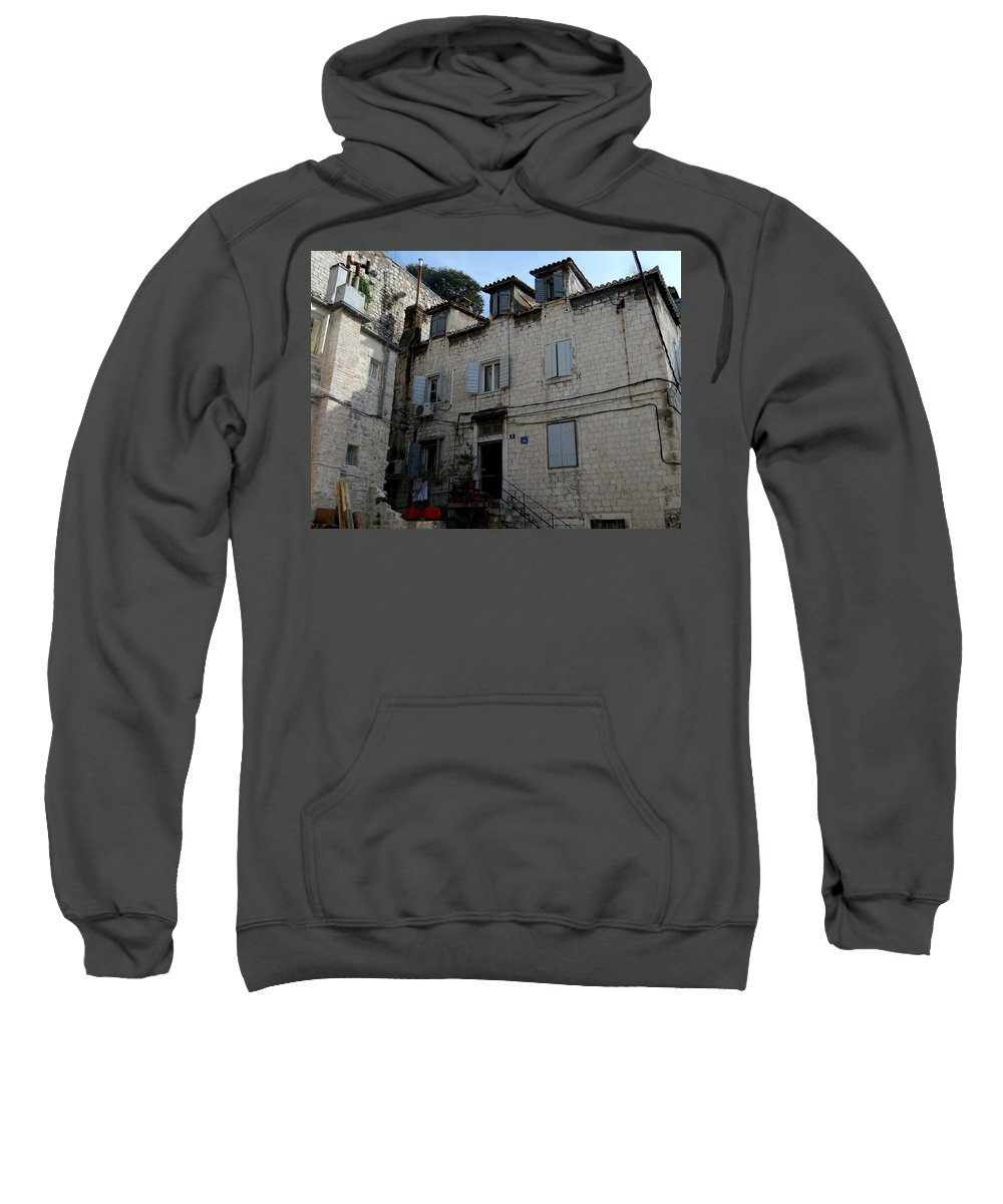 Split Croatia Sweatshirt featuring the photograph Views Of Split Croatia by Richard Rosenshein