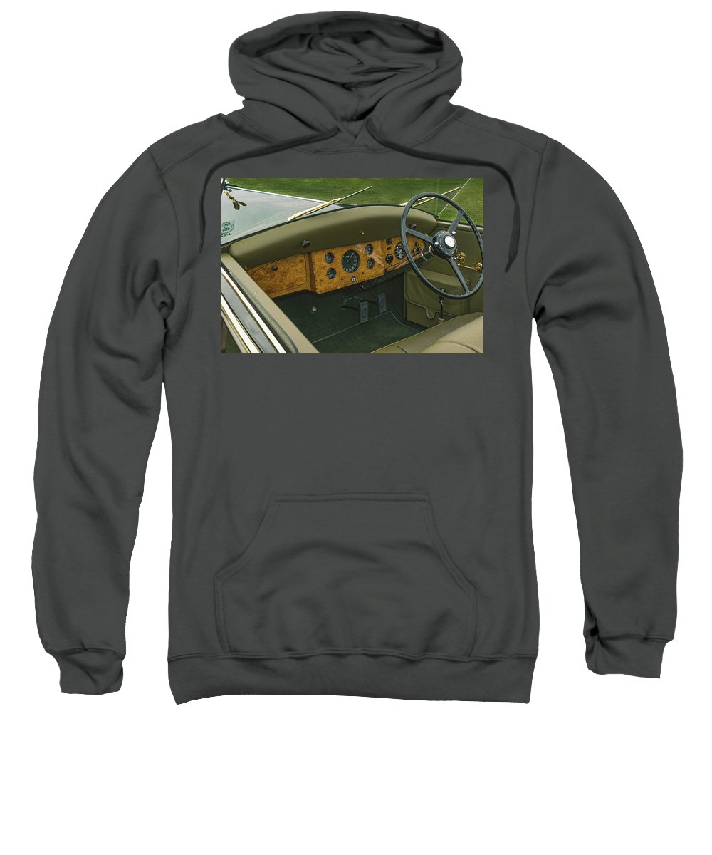 Antique Sweatshirt featuring the photograph 1937 47 Rolls Royce by Jack R Perry