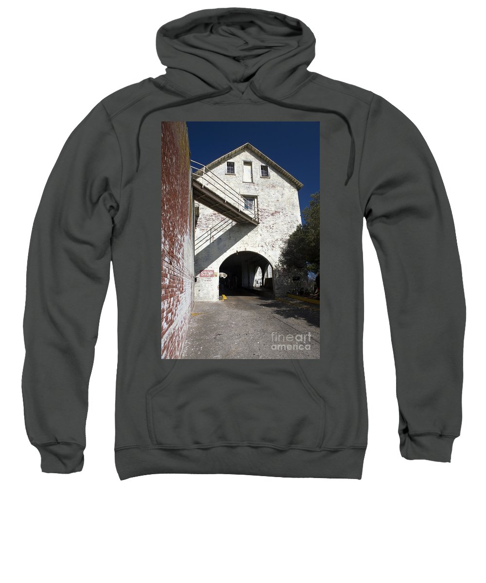 United States Of America Sweatshirt featuring the photograph Alcatraz Island by Jason O Watson