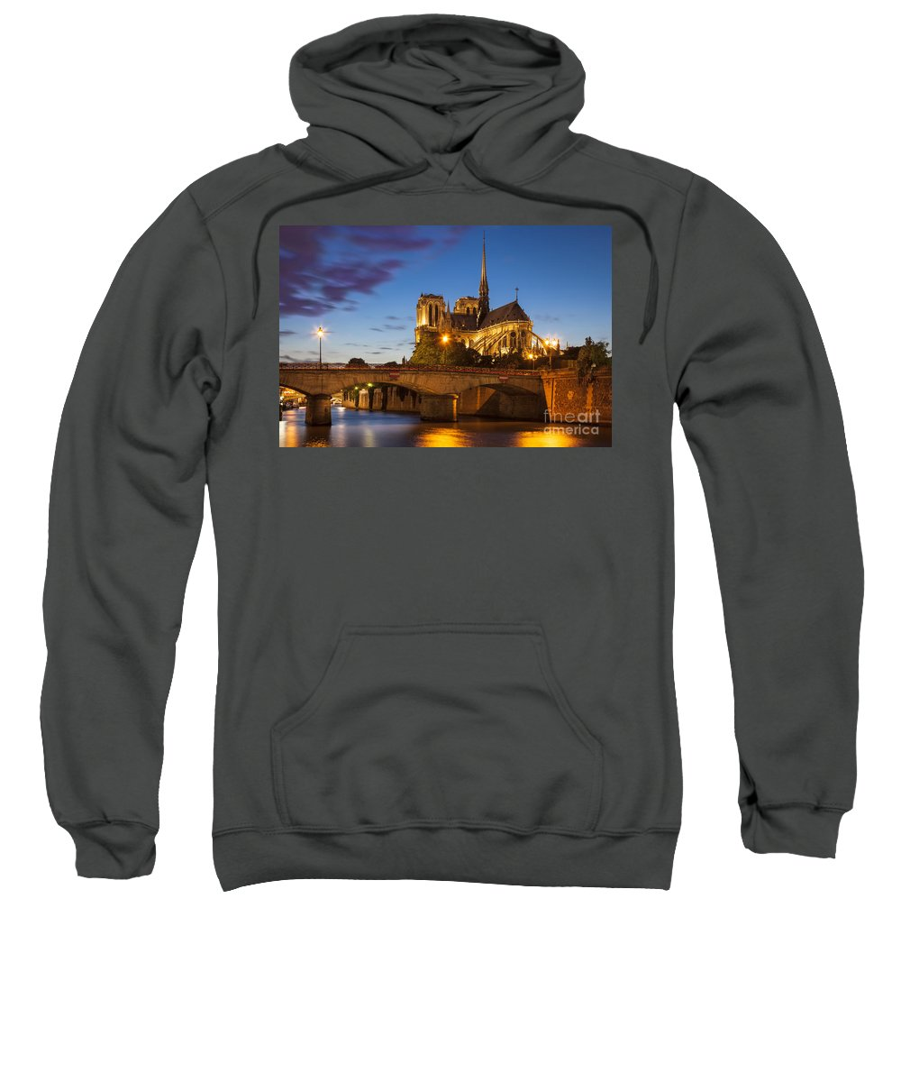 Architectural Sweatshirt featuring the photograph Cathedral Notre Dame by Brian Jannsen
