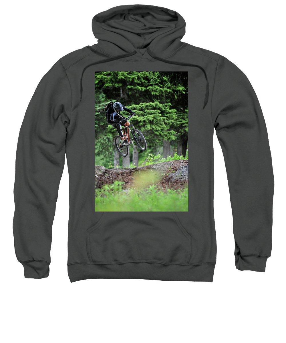 25-29 Years Sweatshirt featuring the photograph Extreme Biking In Alaska by HagePhoto