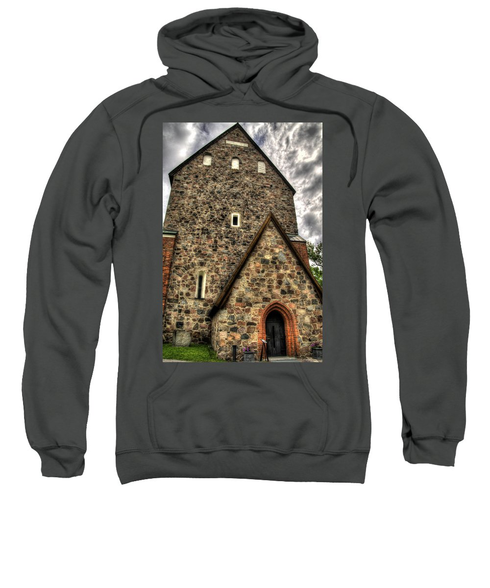 Church Sweatshirt featuring the photograph Uppsala Church - Gamia - Uppsala Sweden by Jon Berghoff