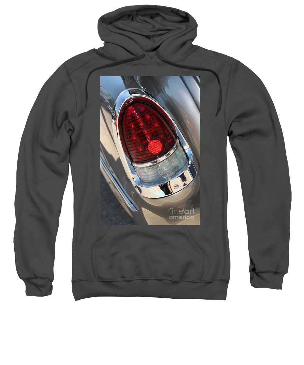 1955 Chevrolet Bel Air Sweatshirt featuring the photograph 55 Bel Air Tail Light-8184 by Gary Gingrich Galleries