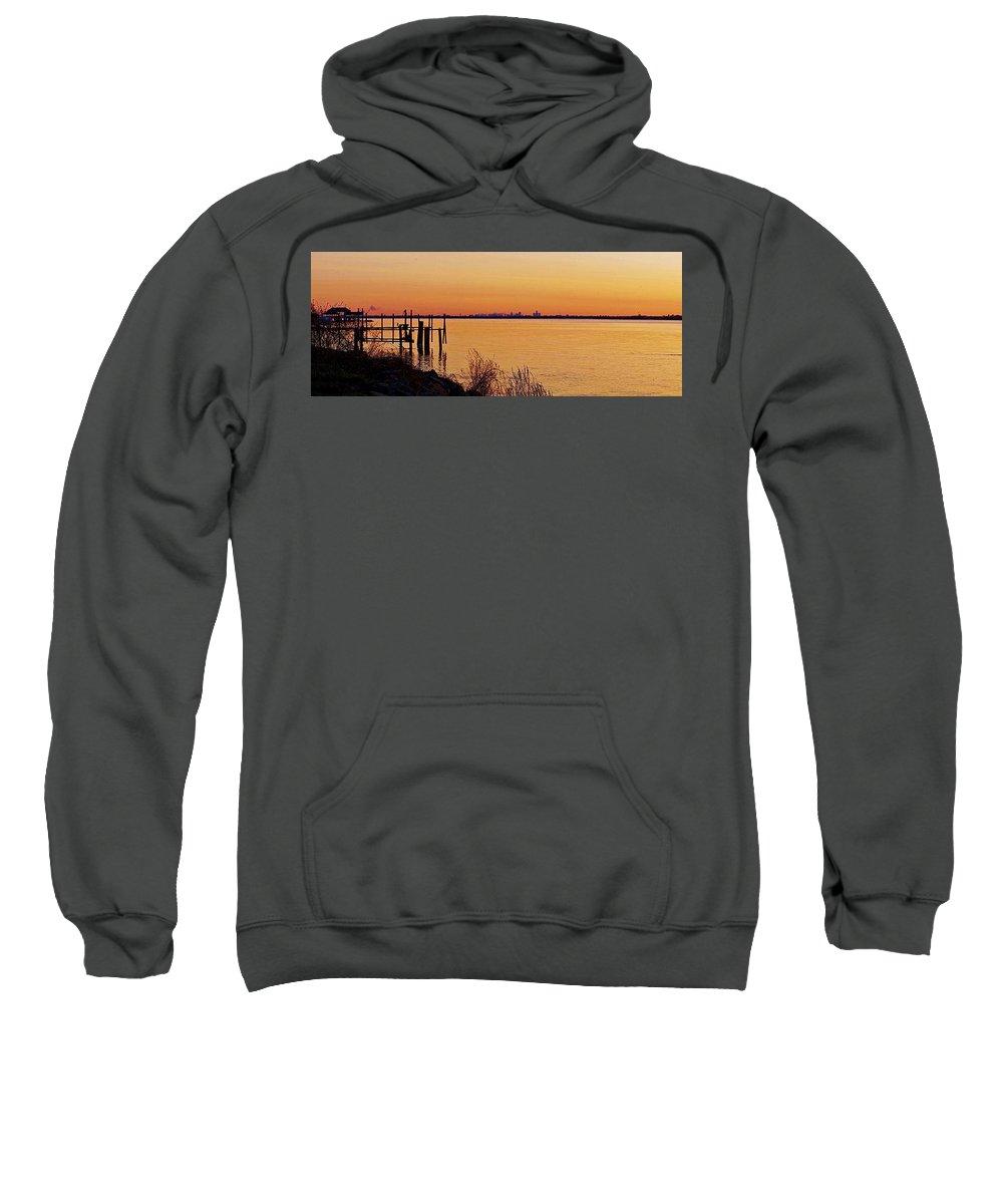 Michigan Sweatshirt featuring the photograph 6 33 Am. Pano by Daniel Thompson
