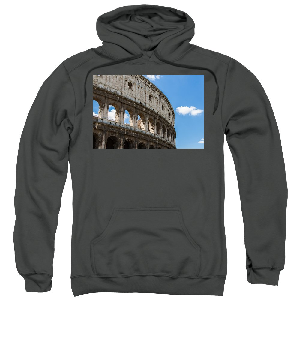 Rome Sweatshirt featuring the photograph Colosseum - Rome Italy by Andrea Mazzocchetti