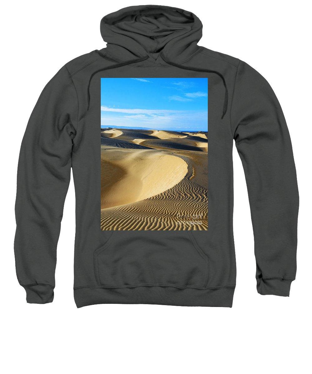 Sunrise At Oceano Sand Dunes Sweatshirt featuring the photograph Sunrise At Oceano Sand Dunes by Yefim Bam