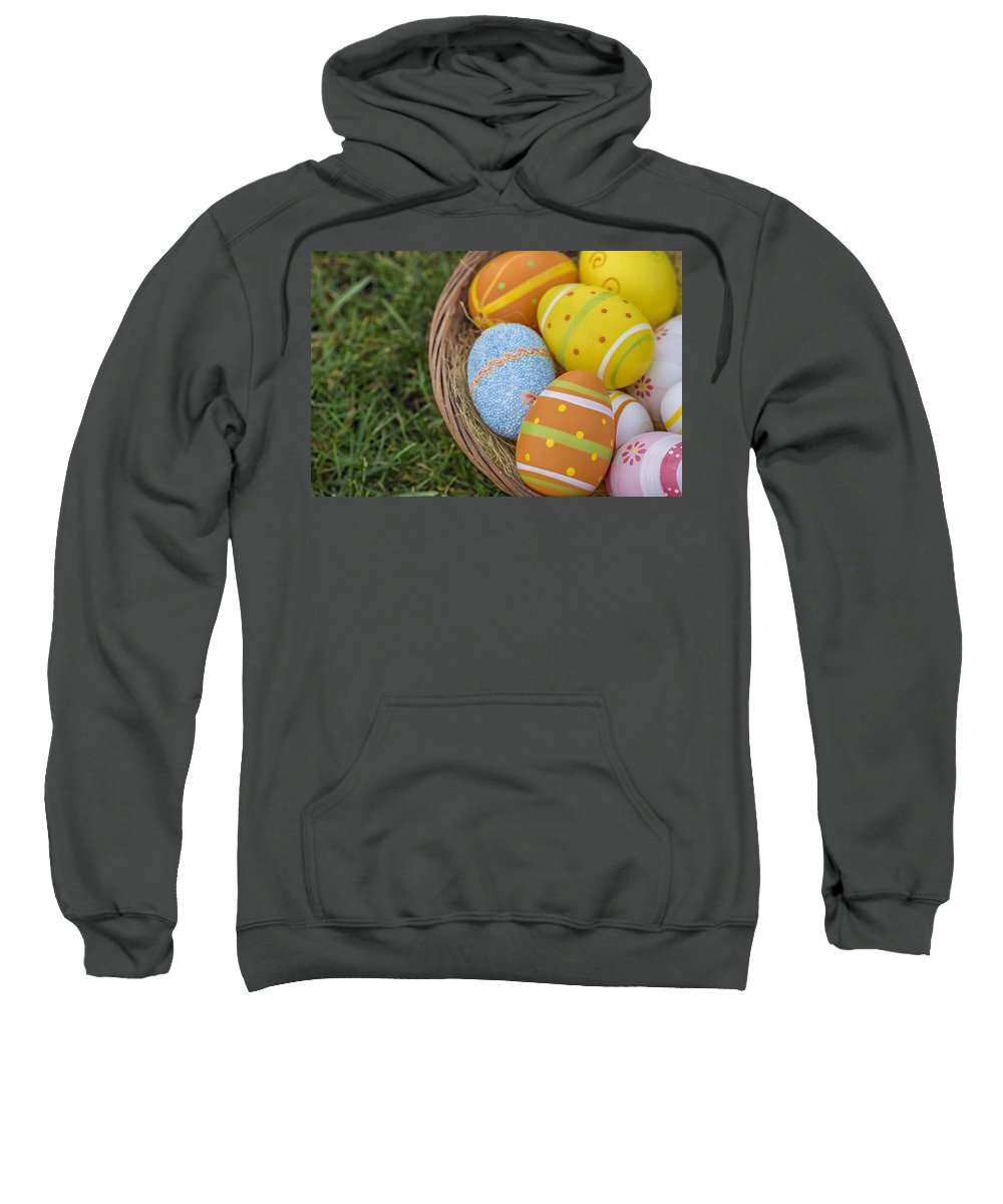 Nest Sweatshirt featuring the photograph Easter Eggs by Paulo Goncalves