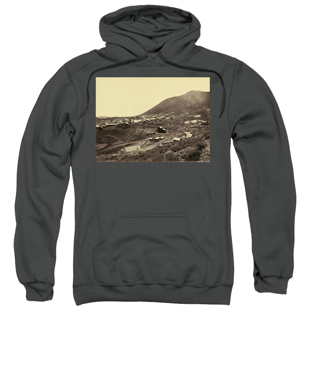 1867 Sweatshirt featuring the photograph Nevada Virginia City by Granger