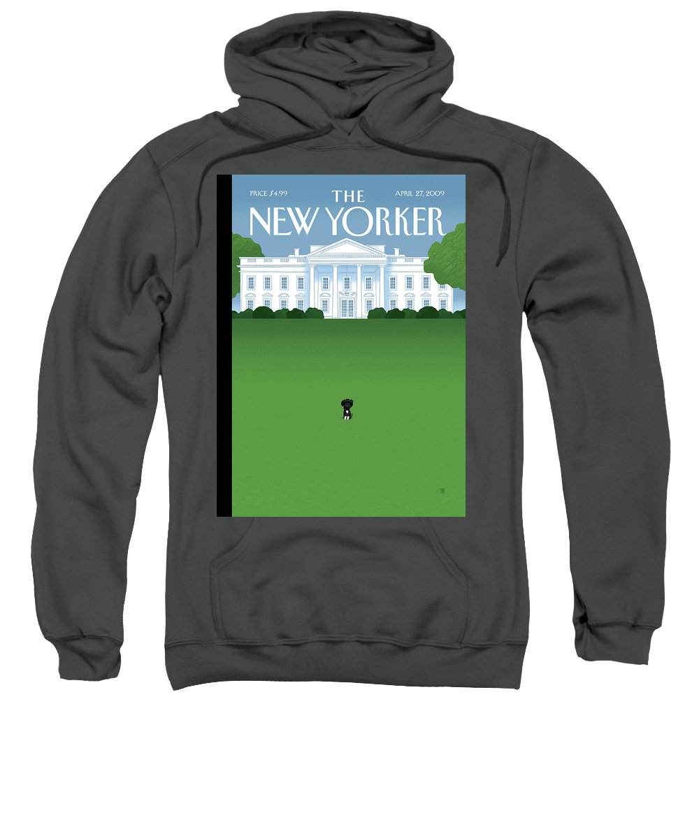 Obama Sweatshirt featuring the painting Bo by Bob Staake