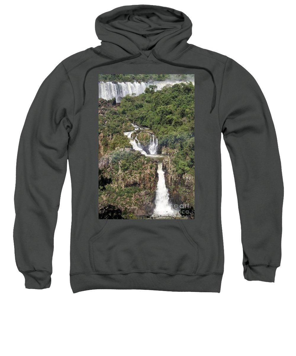 Iguazu Falls Sweatshirt featuring the photograph Iquazu Falls - South America by Jon Berghoff