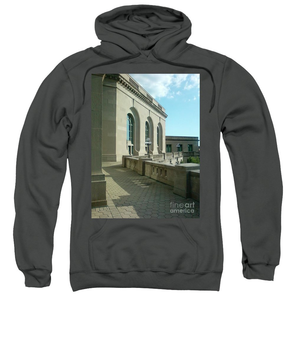 Joliet Union Station Sweatshirt featuring the photograph Joliet Union Station by Alfie Martin