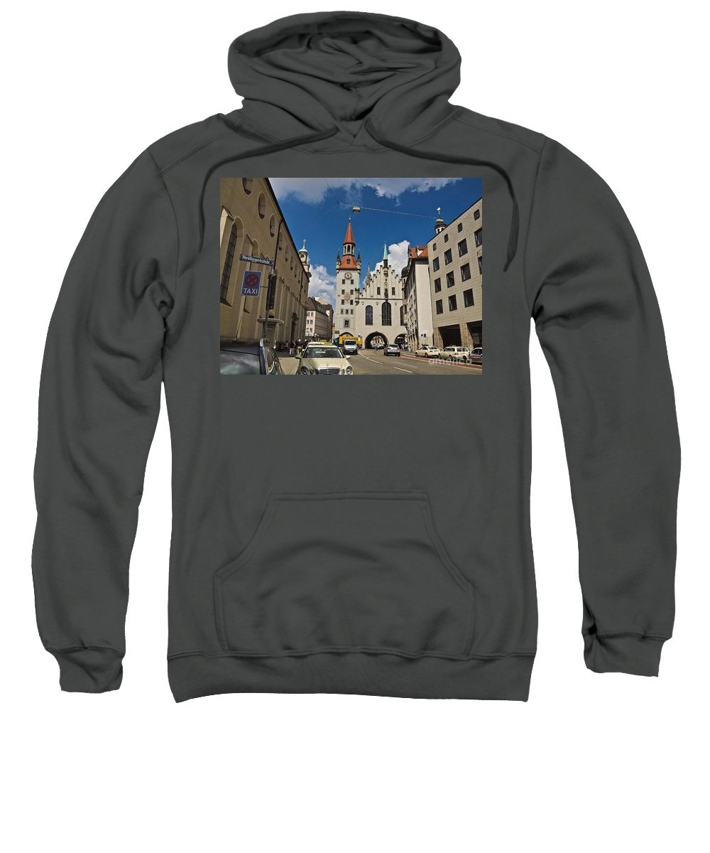 Altes Rathaus Sweatshirt featuring the photograph Munich Germany by Howard Stapleton