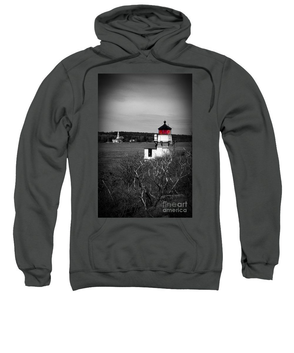 Lighthouses Sweatshirt featuring the photograph Squirrel Point Lighthouse by Skip Willits