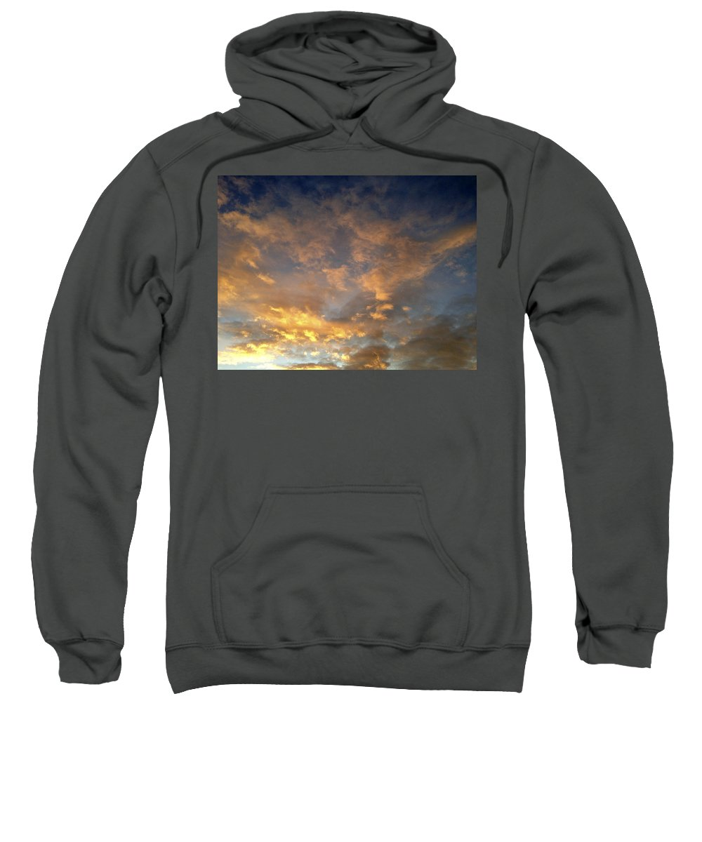 Sunlit Sweatshirt featuring the photograph Sunset Sky by Les Cunliffe