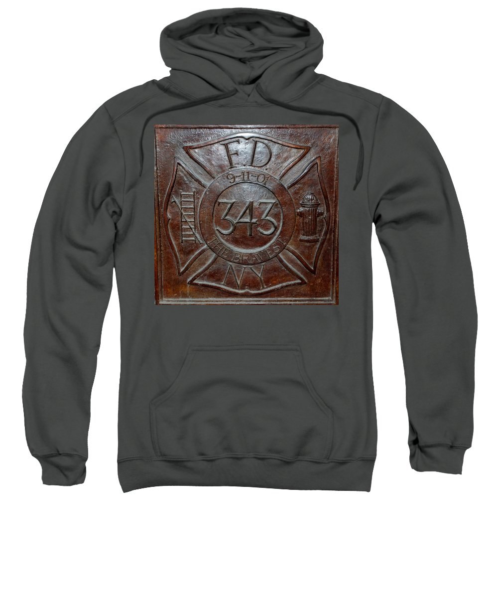Fdny Sweatshirt featuring the photograph 9 11 01 F D N Y 343 by Rob Hans