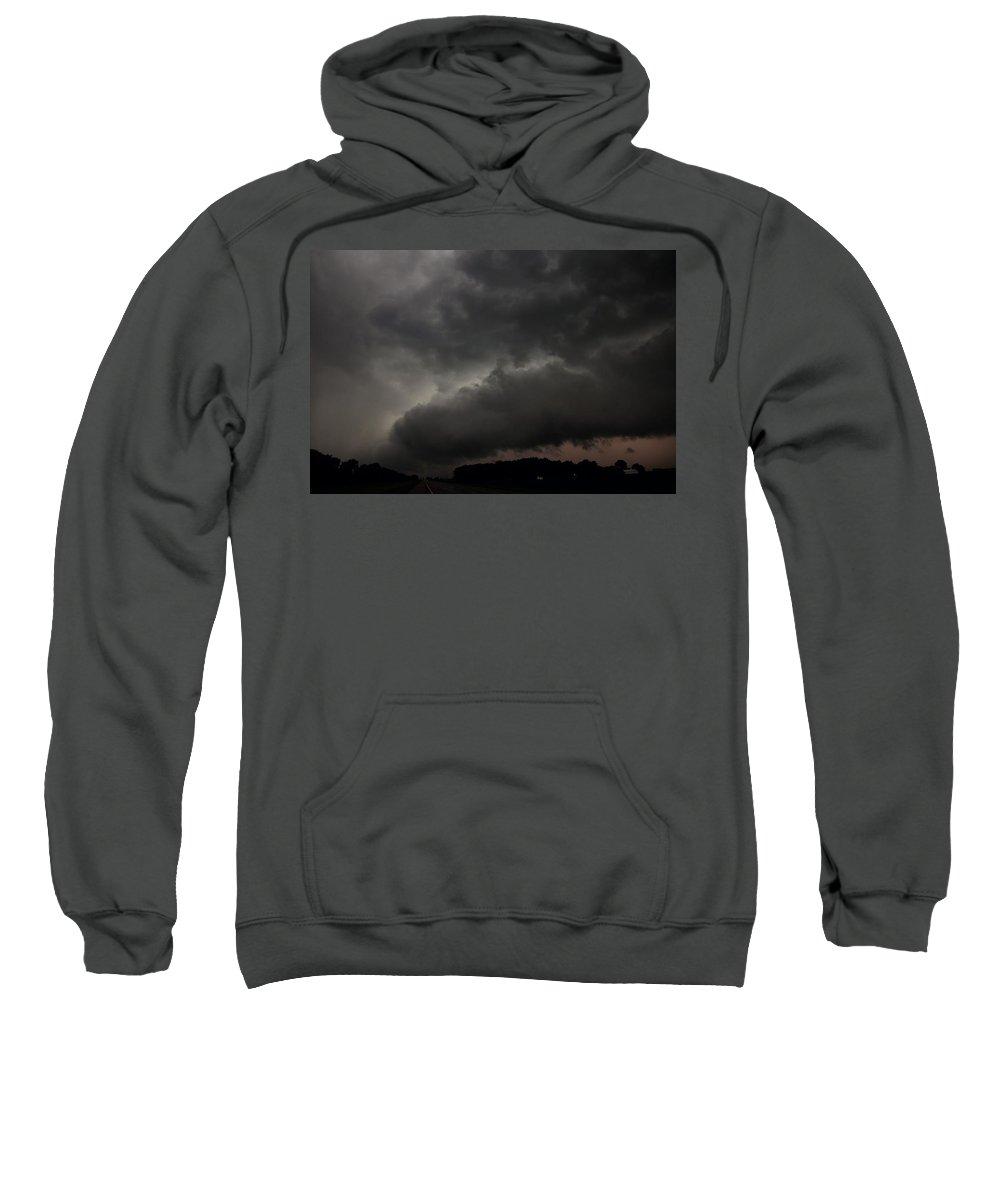 Stormscape Sweatshirt featuring the photograph Stong Nebraska Supercells by NebraskaSC