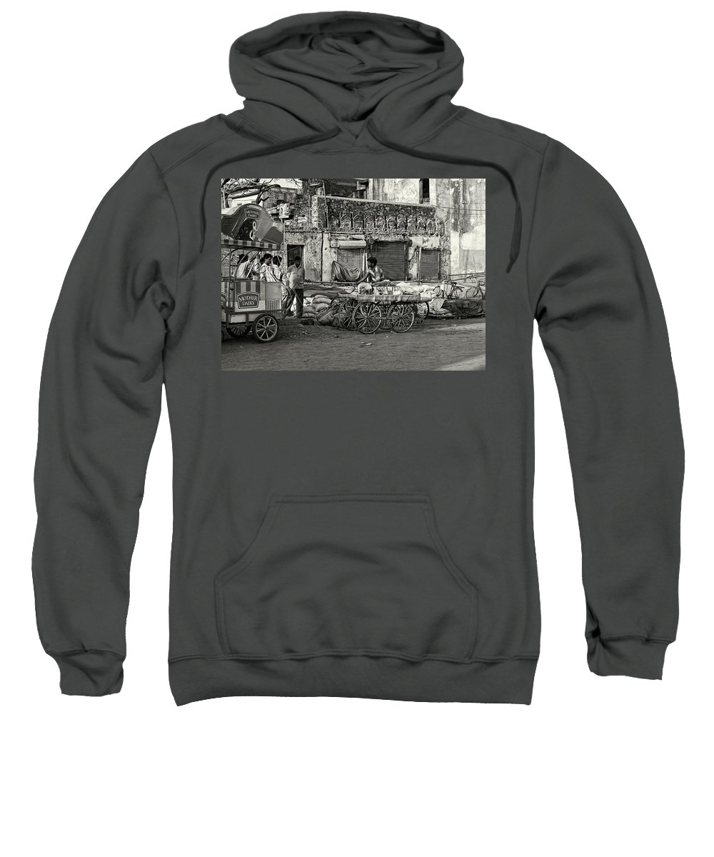 Asia Sweatshirt featuring the photograph A Chat Among Friends by Roberto Pagani