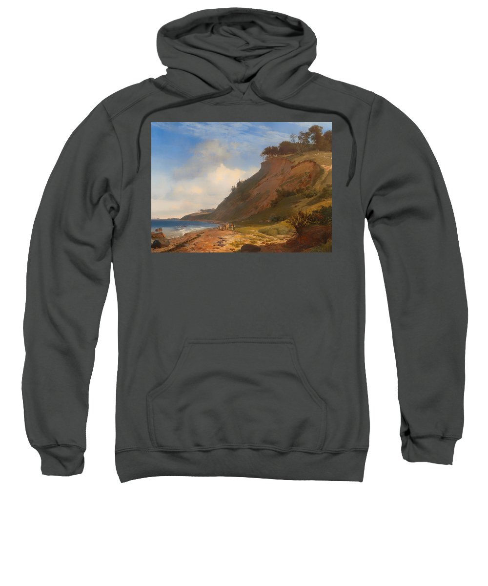 Painting Sweatshirt featuring the painting A Danish Coast by Mountain Dreams