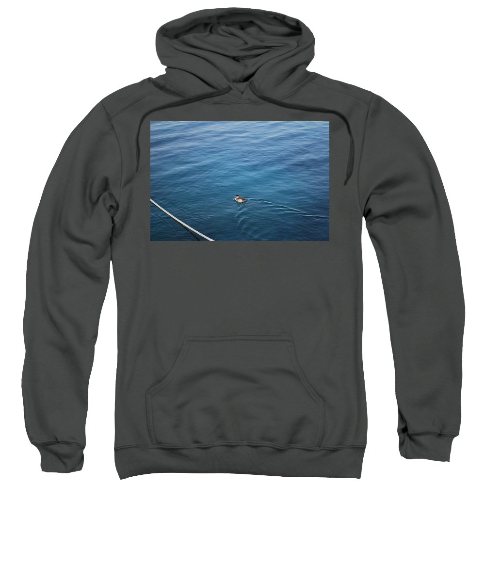 Duck Sweatshirt featuring the photograph A Duck by George Katechis