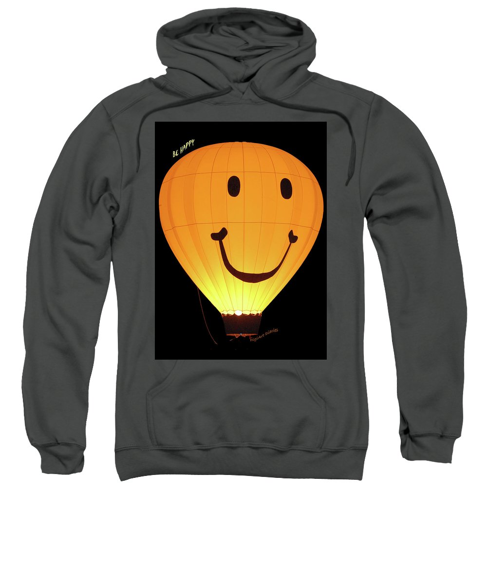 Balloon Sweatshirt featuring the digital art A Glowing Smile by DigiArt Diaries by Vicky B Fuller
