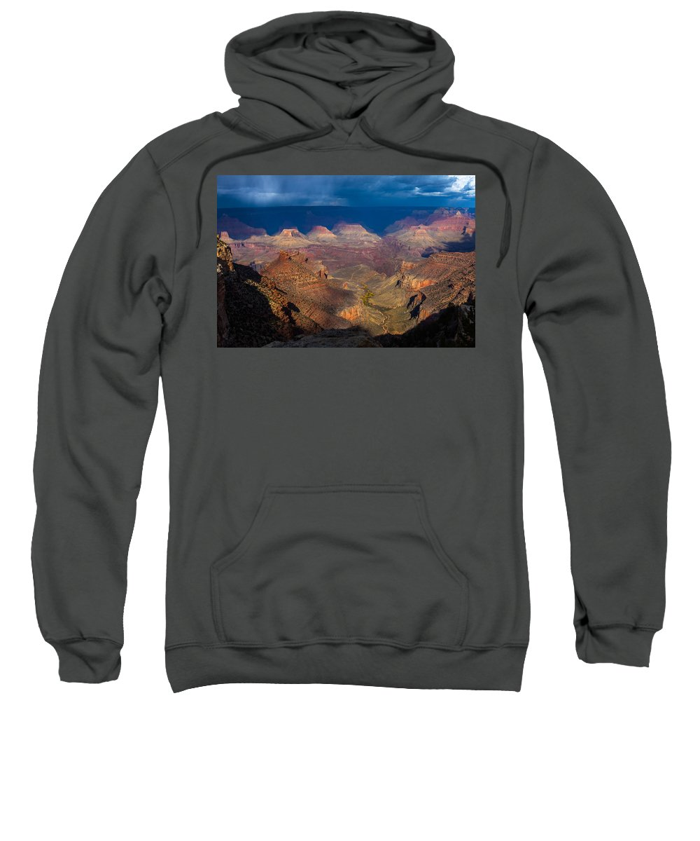Arizona Sweatshirt featuring the photograph A Grand View by Ed Gleichman