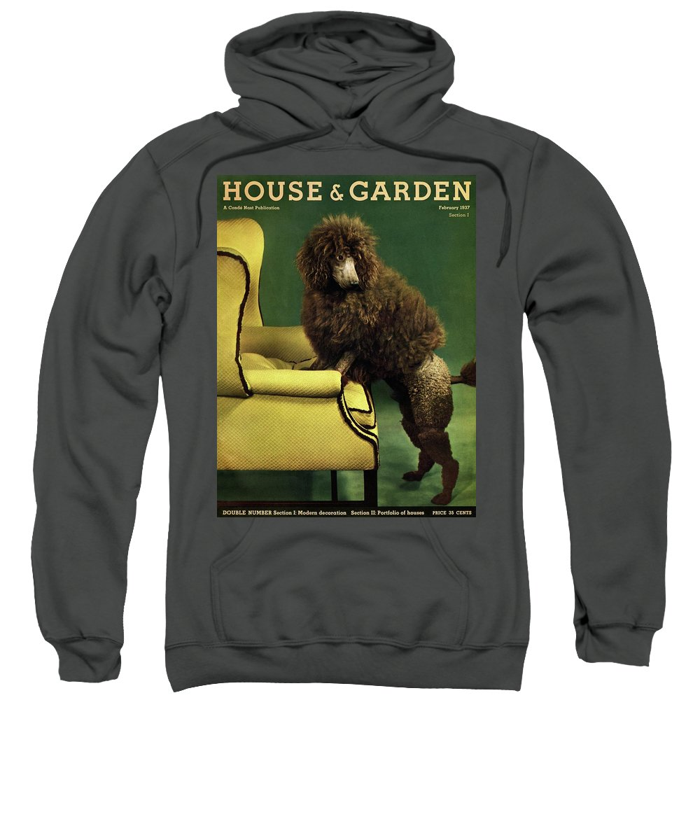 Illustration Sweatshirt featuring the photograph A House And Garden Cover Of A Poodle by Anton Bruehl